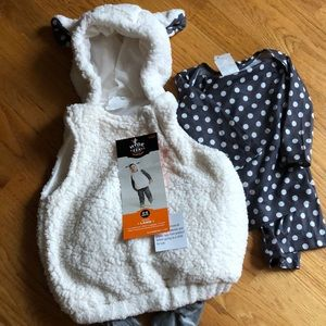 Infant hooded Lamb costume 0-6 months NWT